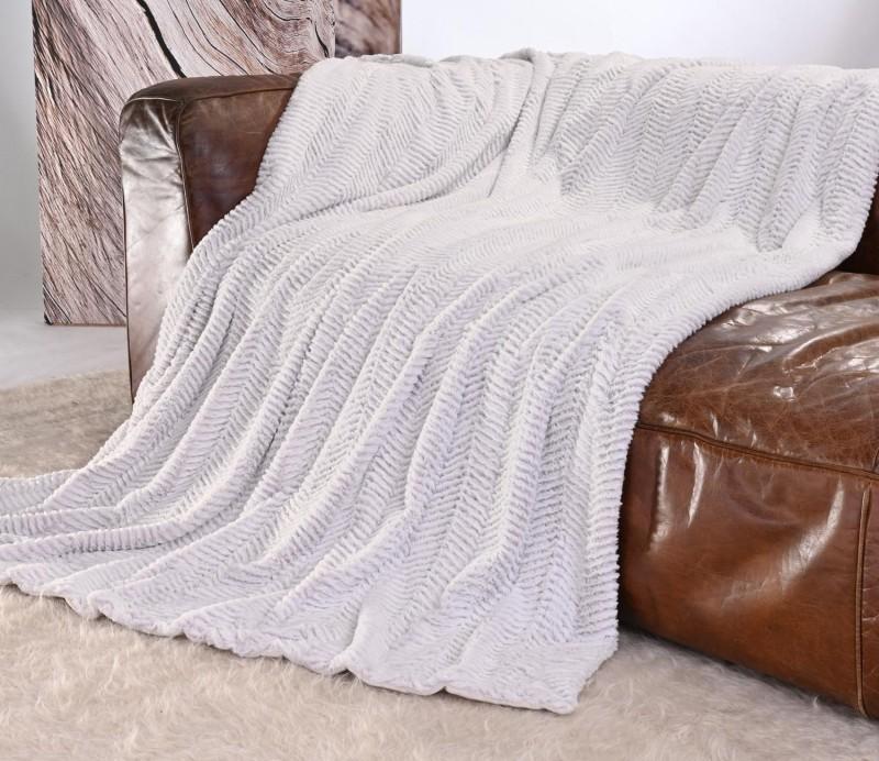 Kuscheldecke Felloptik weiß-weiß 150x200cm