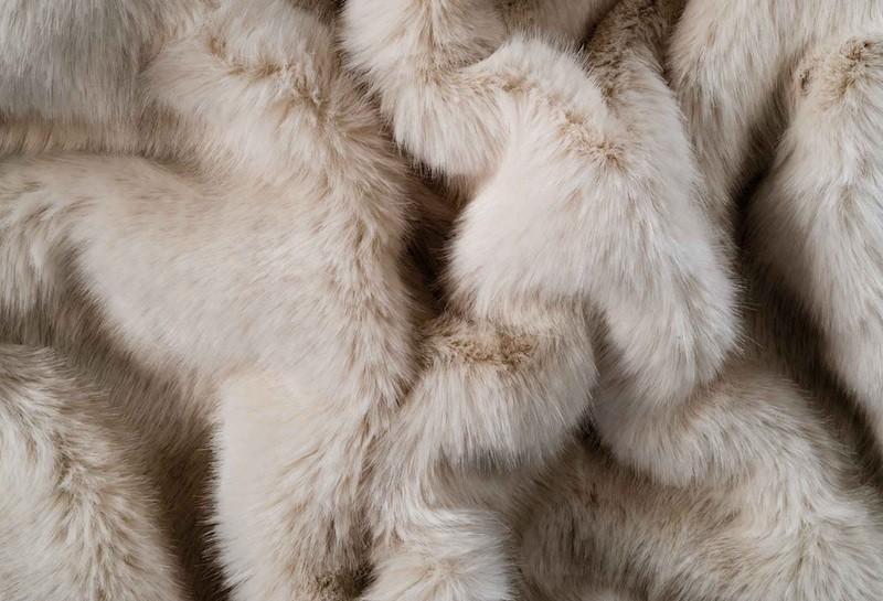 Felldecke von Eskimo - Eskitex aus Webpelz Orsino beige 150x200cm